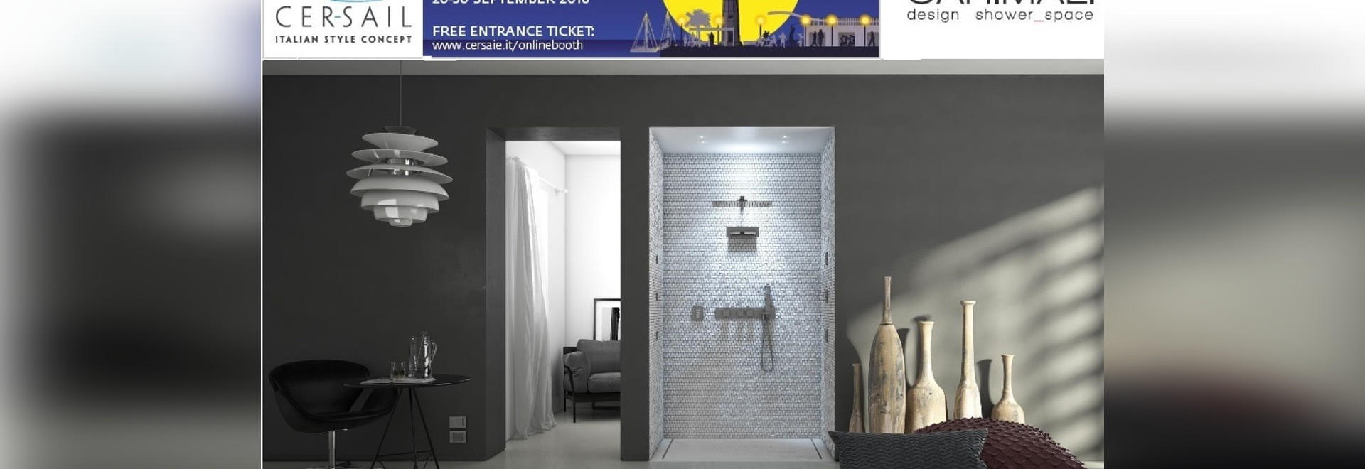 CARIMALI-Entwurf shower_space an CERSAIE 2016