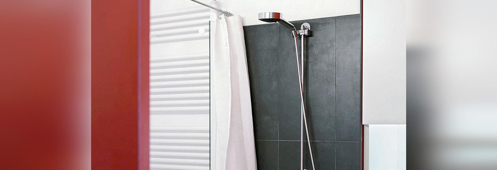 Duschvorhangstangen U-Form quadratisch für Duschwannen