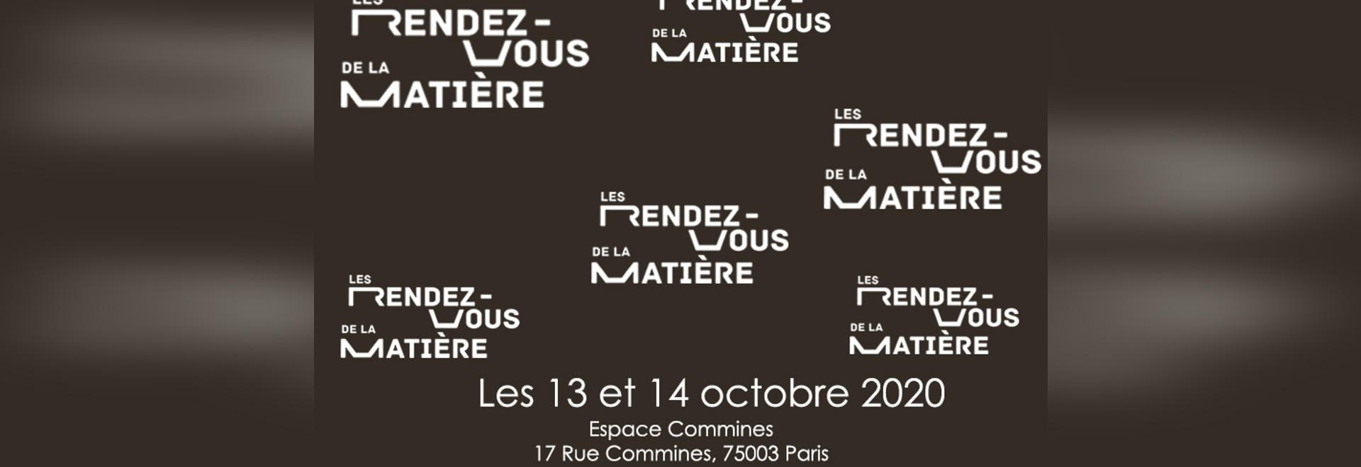 Fachmesse RDV de la matiere von 13 bis 14 oktober 2020 in France