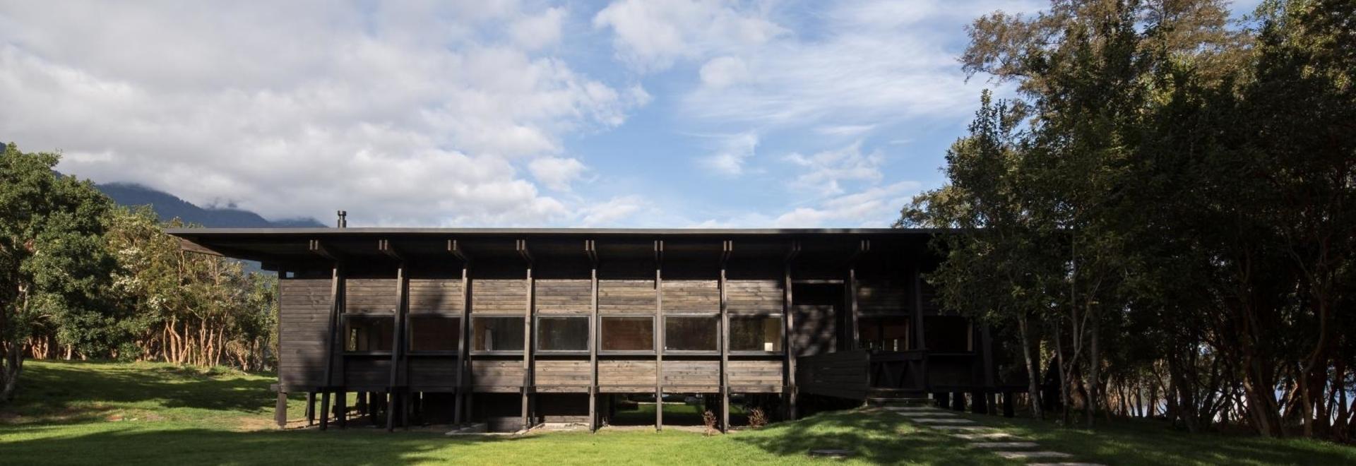 Ein Familienrefugium in Chile ist ganz aus Holz gebaut