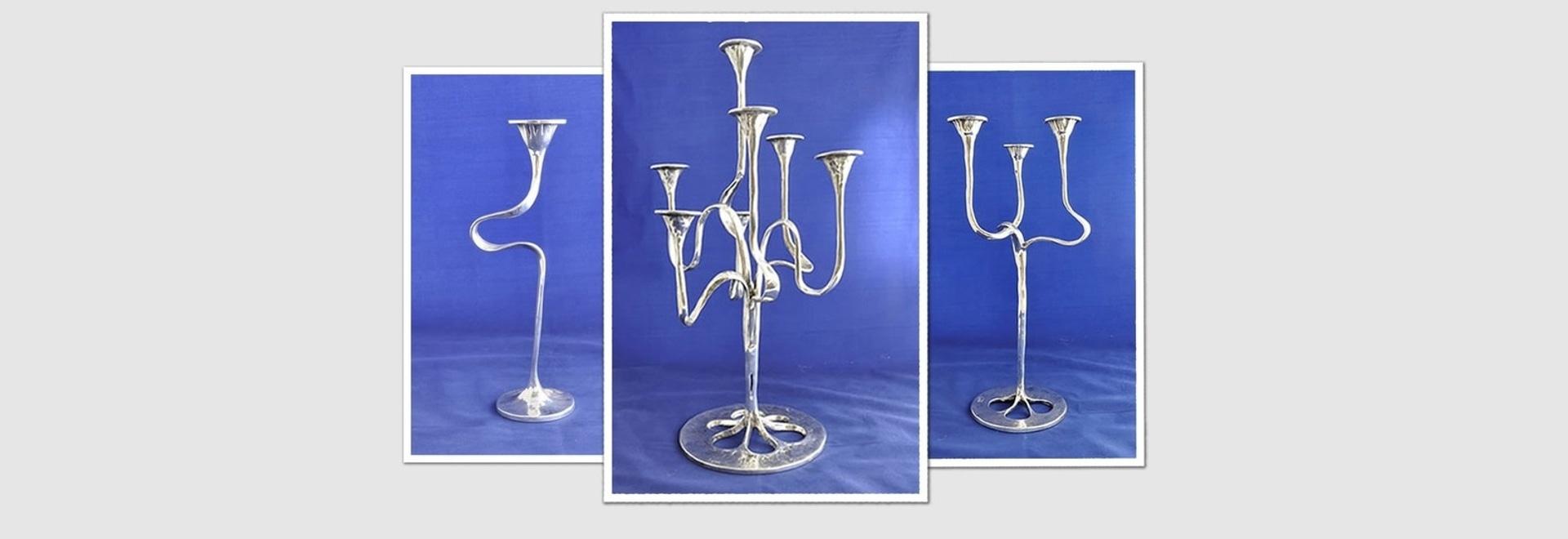 Kerzenständer versilbern Bronze