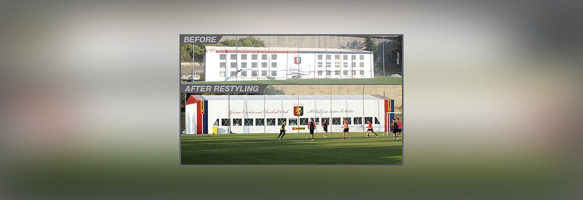 Kopron der neue Lieferant von Genua CFC, der älteste Fußballverein in Italien.
