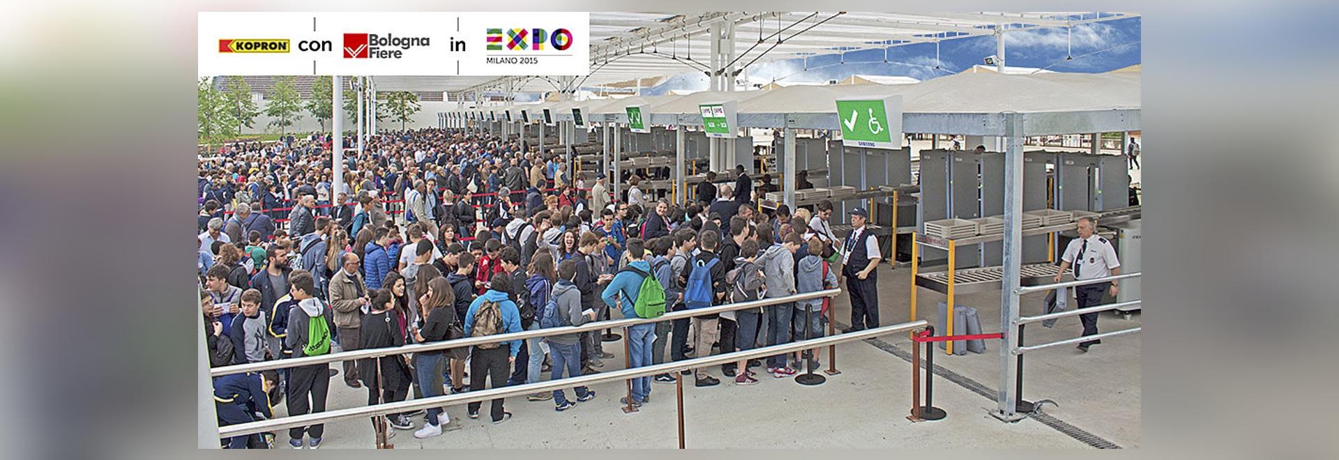 Kopron sichert den zutritt zur Expo2015 durch einen aufbau von 3500 quadratmeter.
