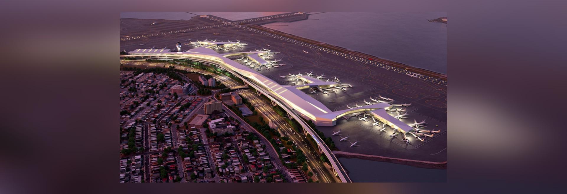 La Guardia deckt Pläne auf, um New York zu holen Luft-reisen in das 21. Jahrhundert