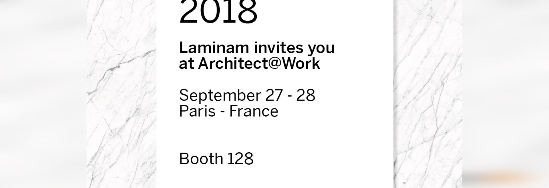 LAMINAM-INNOVATION AUF STADIUM BEI ARCHITECT@WORK PARIS