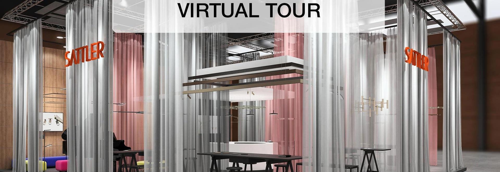 """Messestand von SATTLER auf dem virtuellen Rundgang zur """"Light + Building"""""""