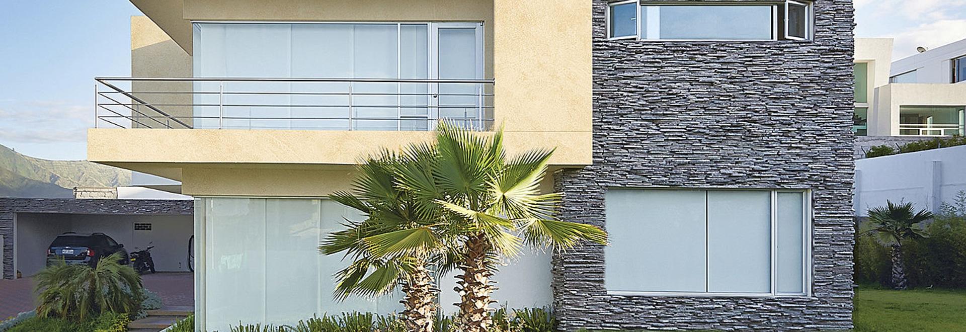 MINERALS Design - Aluminium-Verbundplatten und Blechen für Architektur im traditionellen Look