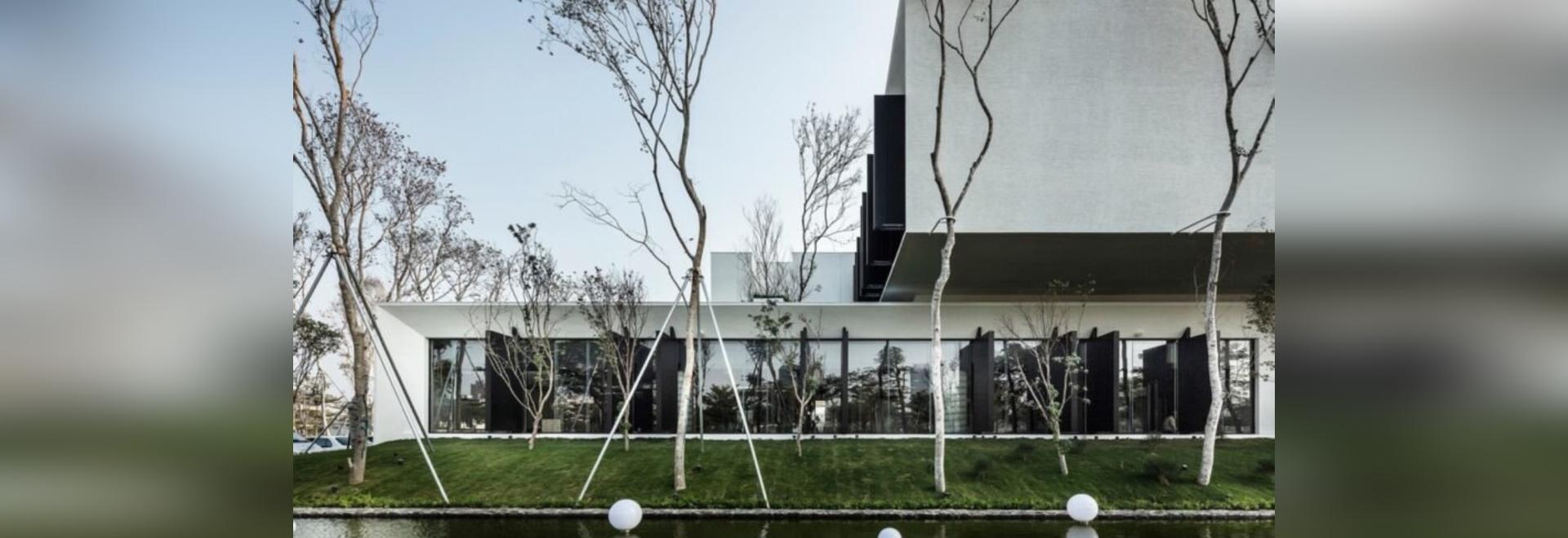 Modulare Materialien bilden ein umweltfreundliches Restaurant in Taiwan
