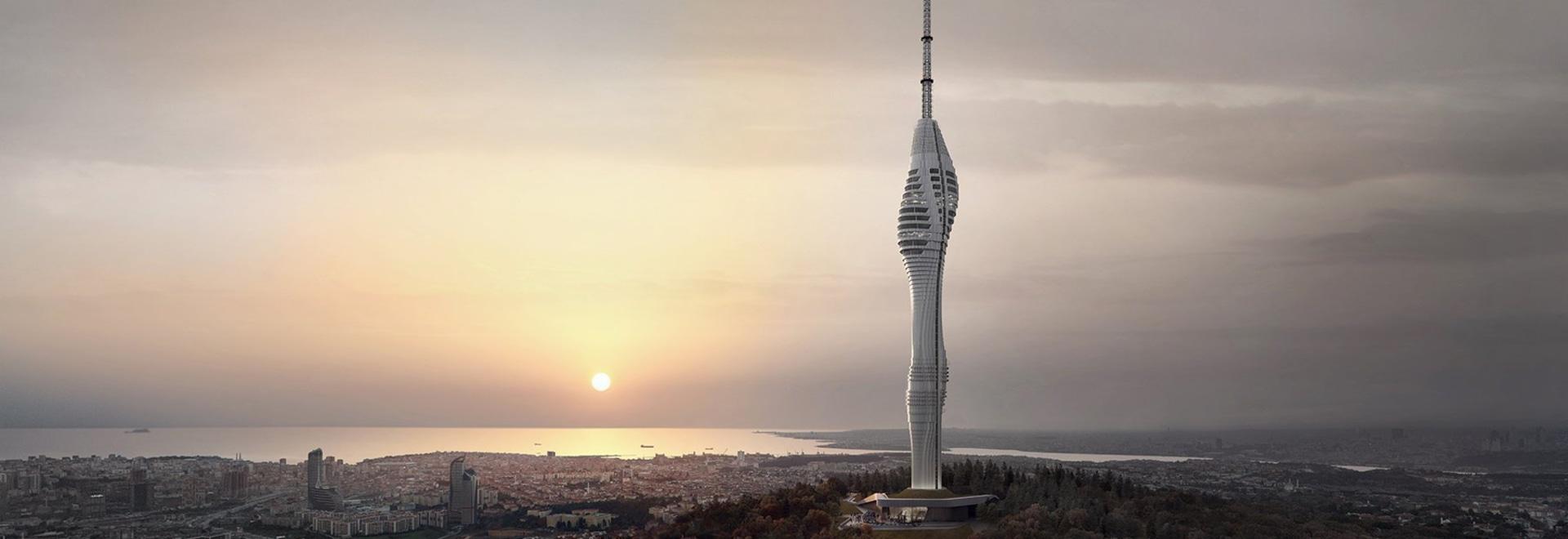 neueste bilder wurden von isanbuls futuristischem funkturm enthüllt