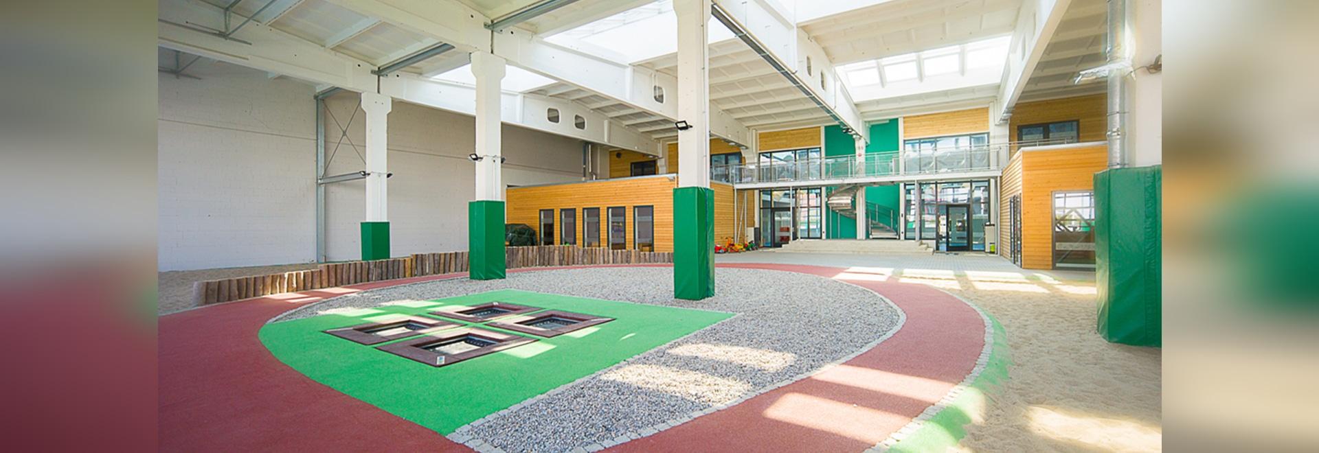 """REGUPOL Fallschutzböden in der der Kindertagesstätte """"In der Kammgarnspinnerei"""""""