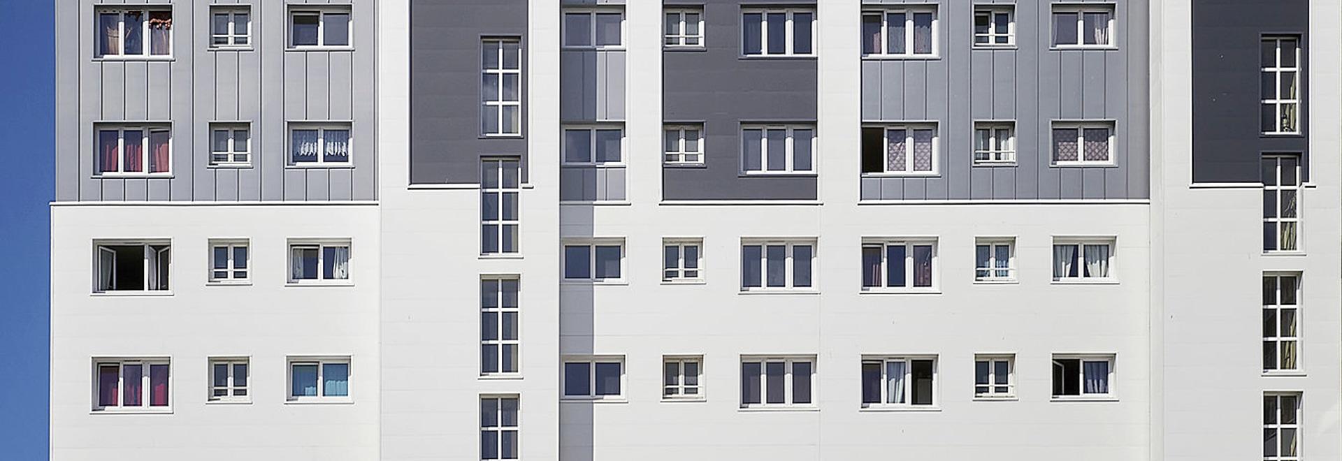 """Residential area """"Gauguin Matisse""""- Energetische Sanierung: Aluminiumplatten-Lösung für die Außenfassadendämmung"""