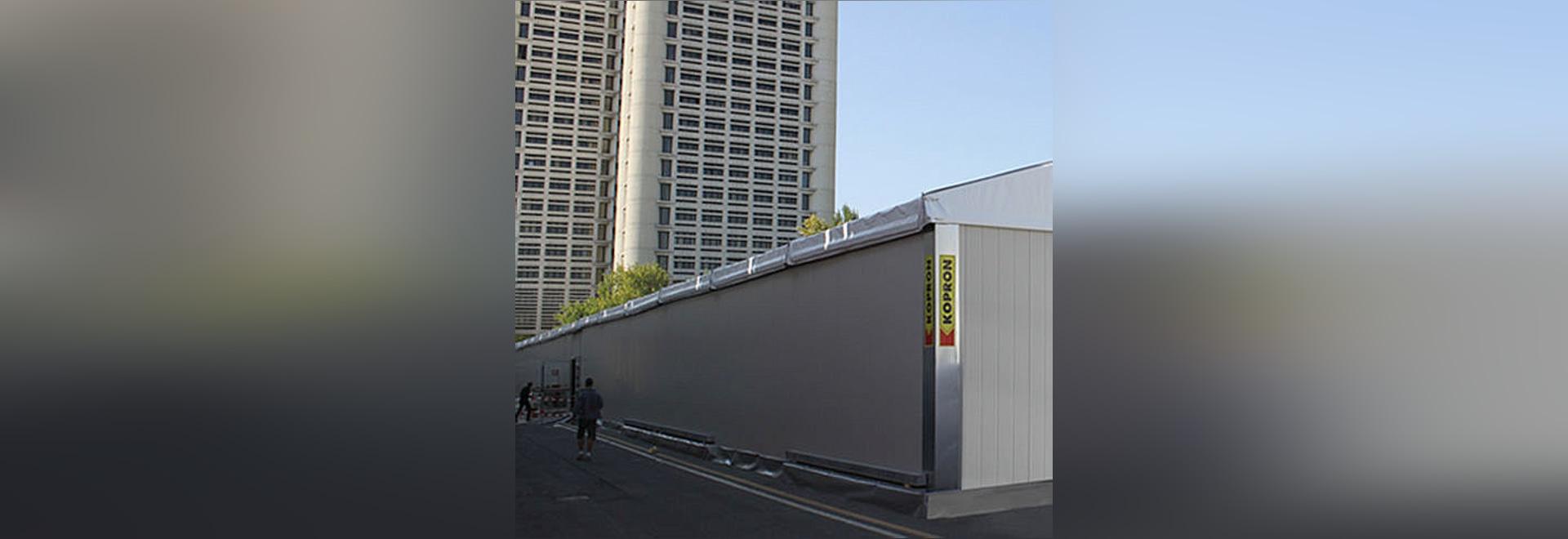 SANA und CERSAIE, zwei wichtige Ereignisse bewirtet unter einem 3000-Quadratmeter-modularen Zelt hergestellt von Kopron
