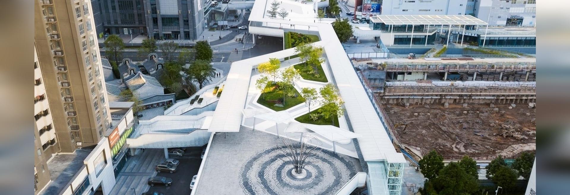 Schwimmender Archipel, Entwurf einer Fußgängerbrücke / FCHA