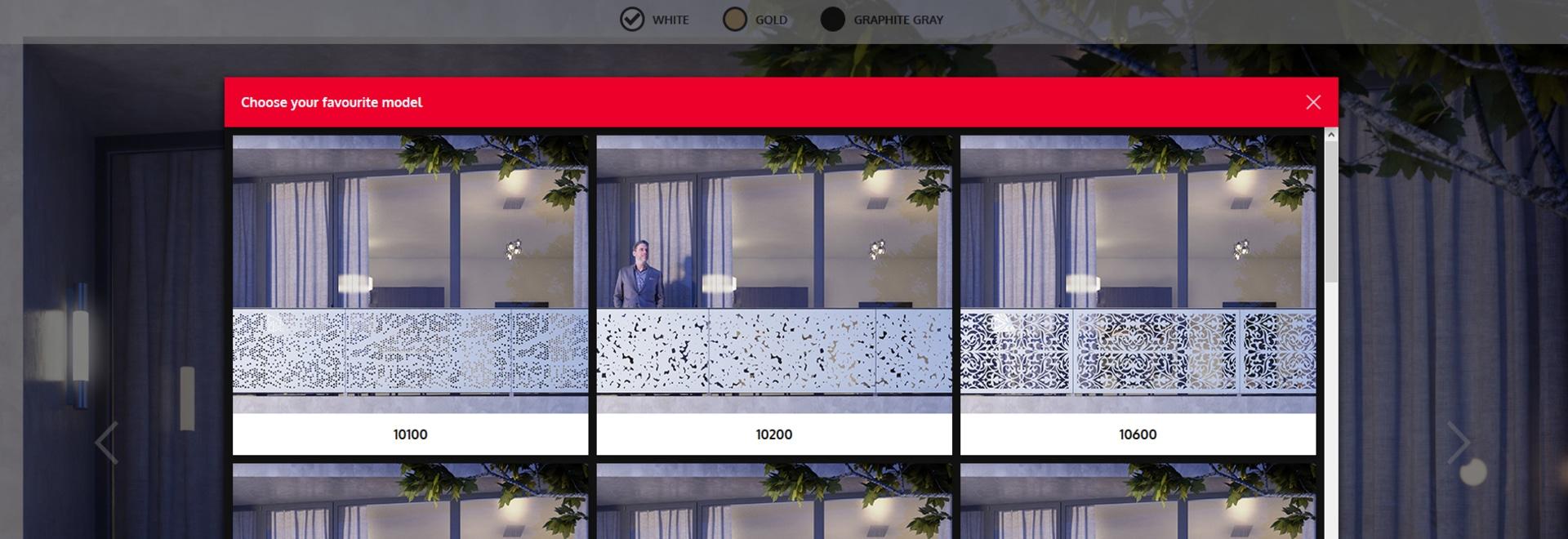 Sichtbarmachung von Balkon-Umhüllungen
