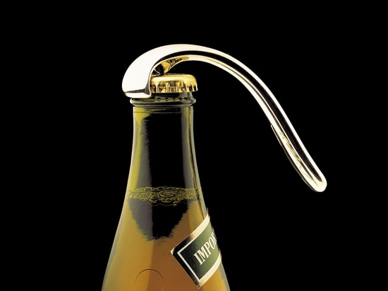 Flaschen-Öffner, Silber.