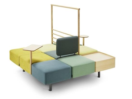 KONNEKT INSEL-Bank durch Swedese Möbler