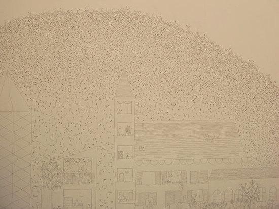 Mit Filigran geschmückte Zeichnung von Ishigamis phantastic Anblicken