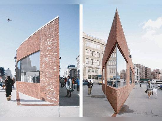 Großartig spitze Winkel: Yohji Yamamoto Gansevoort Straßen-Speicher, New York