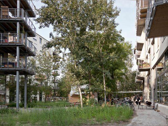 Spreefeld? s-großzügige Balkone und Kommunalräume, 2014. (Foto: Ute Zscharnt)