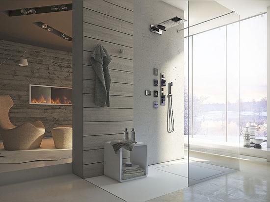 Sensorische Erfahrung für den Duscheraum, eine neue Calflex Philosophie für den Wellness Ihres Körpers und Seele