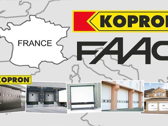 Faac Frankreich u. Kopron Frankreich: Zwei excellences des italienischen Ursprung erreichen eine Vereinbarung, zusammen gegenüberzustellen den französischen Markt
