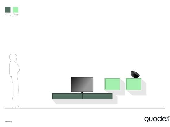 Kragenkabinettzusammensetzung, grafische Lösung für Fernsehen