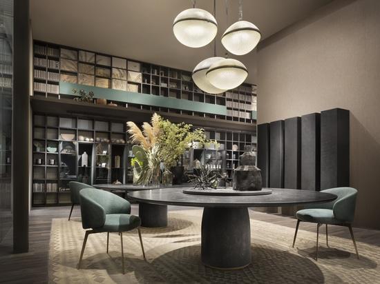 Bulè-Tabelle durch Chiara Andreatti; Bea, das Stuhl durch Roberto Lazzeroni speist; T030- und Selecta-Baukastenprinzip