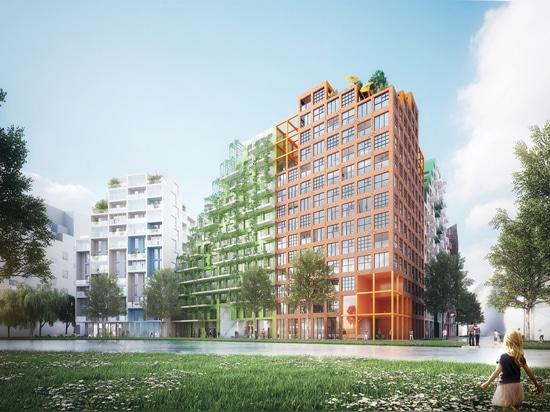 Manuelle Gautrand Designs Futuristic Housing-Block für Amsterdam
