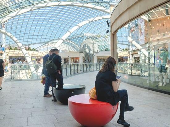 Ein großes Projekt im Leeds-Dreiheits-Einkaufszentrum