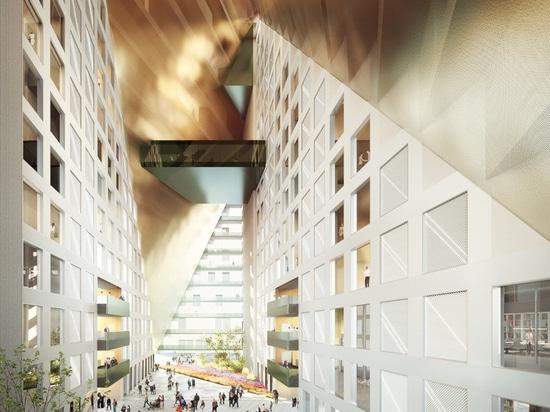 OMA bricht Boden auf xinhu Hangzhou-Prisma im zukünftigen zentralen Geschäftsgebiet der Stadt