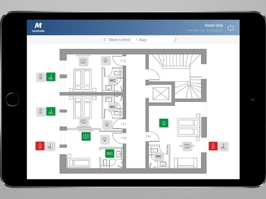 MIDITEC Raumautomation - Hotelzimmer Gebäudeübersicht