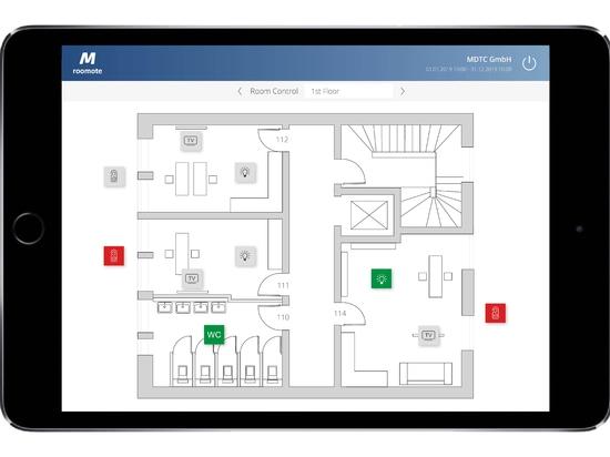 MIDITEC Raumautomation - Büro Gebäudeübersicht