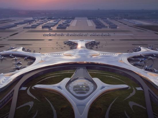 """MAD enthüllt """"Schneeflocken""""-Design für Chinas Harbin Airport Terminal Drei"""
