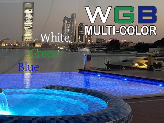 Einzigartiges Unterwasserlicht METEOR auch in WGB mehrfarbig