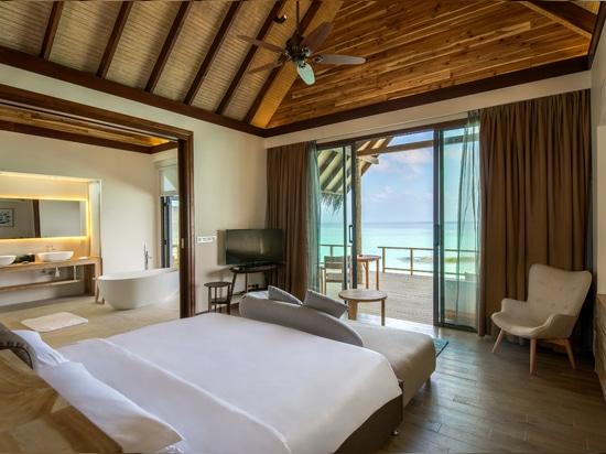 Auf den Malediven ein 5-Sterne- Luxus-Resort