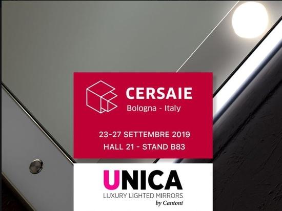 Unica-Spiegel auf der CERSAIE 2019