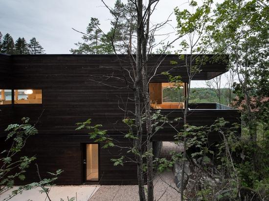 Aslak Haanshuus Arkitekter entwirft eine waldorientierte Villa in Norwegen