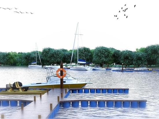 Ein nautischer Komplex am Wouri River in Douala