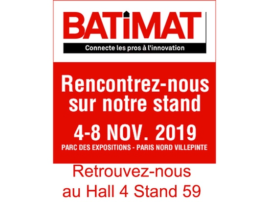 BATIMAT Fachmesse in Villepinte in Paris Hall 4 E59
