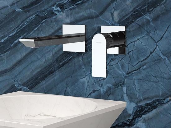Moderner Einbaumischer AVENUE für Waschbecken