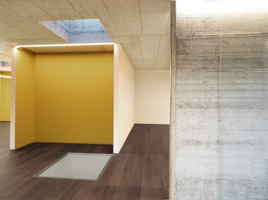 Spiel der Kontraste: Ritmonio Diametro35 in schwarzer Oberfläche für Loft-Büros P19 - Autumn leaves (Mailand)
