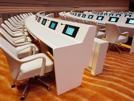 """Die Studie Adeli & de Rham, vertraut C.C.M. und KRION® für sein Projekt """"The Emirates Hall - UN - Geneva"""""""