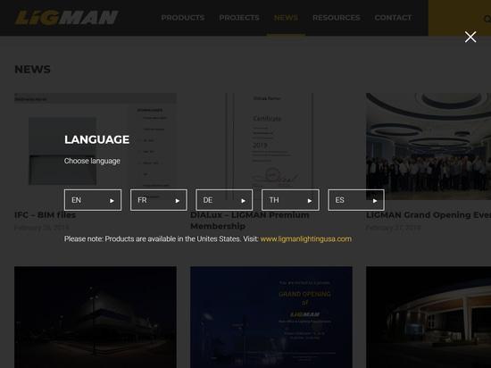 Neue mehrsprachige Website