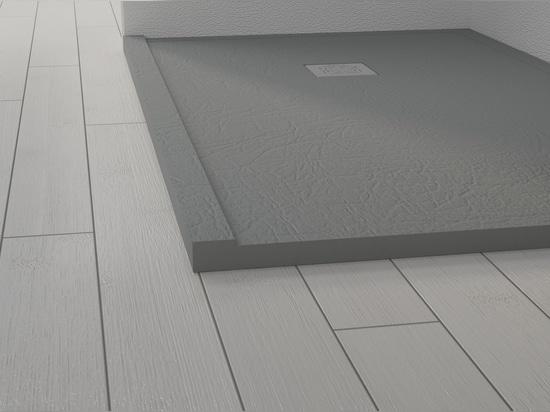Extraflache Duschwanne mit einer Gesamtdicke von 4 cm