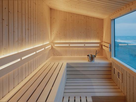 Skandinavische Sauna / Einheimische Erzählung