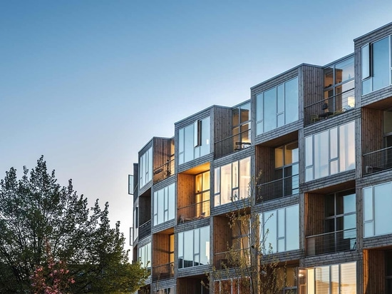 'Dortheavej' erschwingliche Wohnungen, die von BIG in Kopenhagen für Lejerbo entworfen wurden.