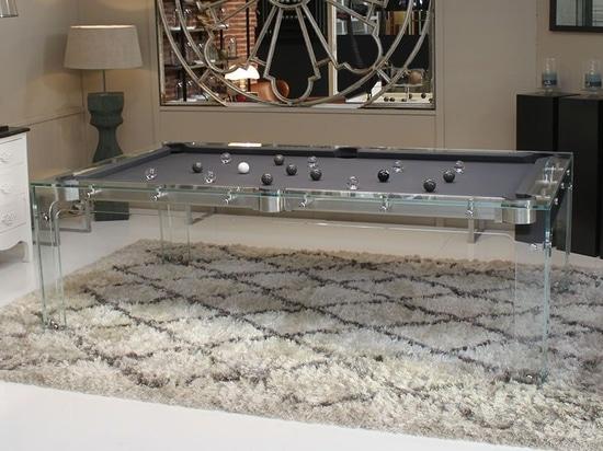 Das Design Pooltisch aus Glas : Carat Light
