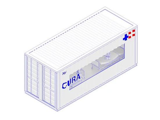 CURA schlägt vor, Schiffscontainer in COVID-19-Notfallkrankenhäuser umzuwandeln