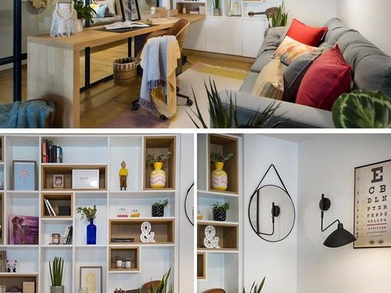 Ein verglastes Heimbüro lässt Licht und Durchblicke durch