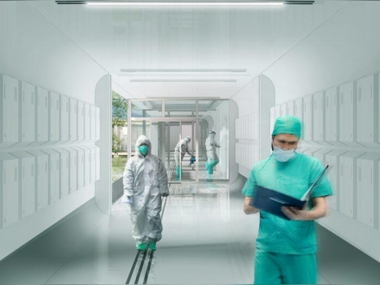 Pop-up-Fertigteil-Krankenhäuser als Gesundheitszentren während Pandemien vorgeschlagen